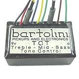 BARTOLINI NTCT 3 Band Tone Control Preamp w/ 400 Hz Mid-Cut 9-Volt