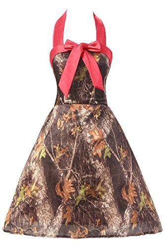 Dress Dress Evening Halter Bridesmaid Anlin Mini Camo amp;watermelon Gown CAMO AN123 Homecoming Party qnZznRxB