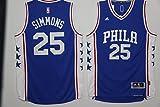 Jonia Ben Simmons Philadelphia 76ers #25 Men's Basketball Jersey