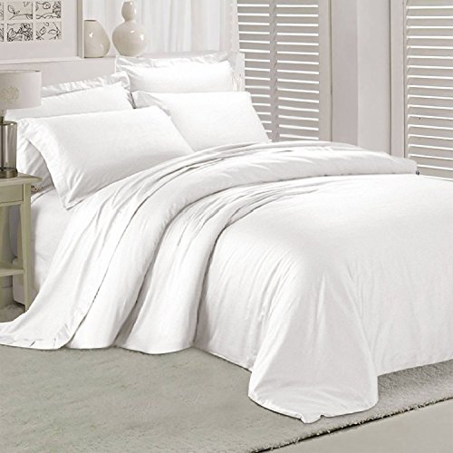 HOMFY 1500 TC Duvet Cover Set with Zipper Closure, Queen, Pr