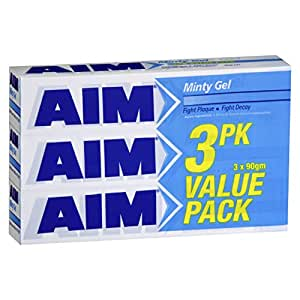 AIM Minty Gel Toothpaste Value Pack 90gm x 3