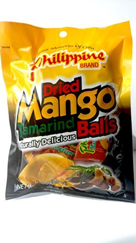 Philippine Brand Dried Mango Tamarind Balls, 3.53-Ounces Pouches (Pack of 3)