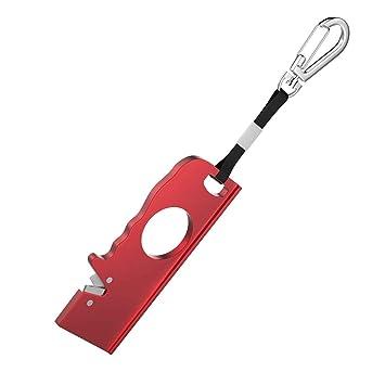 Asien 1PC portátil afilador de Cuchillos Rojo con Llavero ...