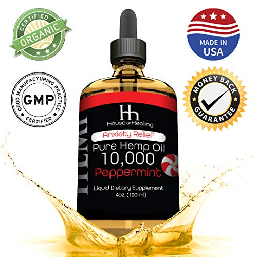 Hemp Oil for Pain Anxiety Relief: Hemp 10,000mg: Hemp Seed Full Spectrum Extract : May Help with Inflammation, Joints, Mood, Sleep & More!: Zero THC CBD Cannabidiol: Rich in Omega 3,6,9