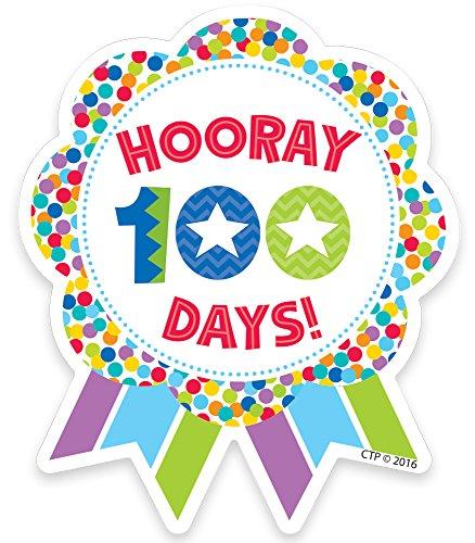 ess Hooray 100 Days! Ribbon Reward Badge (1800) (100th Day Of School Stickers)