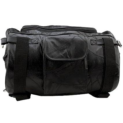 Amazon.com: Bolsa barril de piel para motocicleta: Automotive