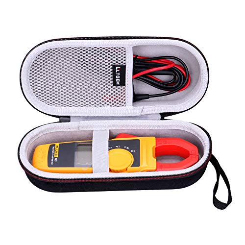 LTGEM Hard Case for Fluke 323/324/325/373/374FC-AMZN/374FC 600AC/DC /375/376 FC True-RMS Clamp Meter Clamp Multimeter AC-DC TRMS, Mesh Pocket for Accessories.