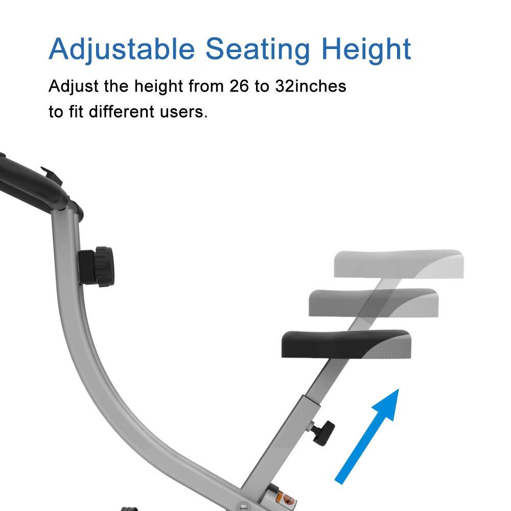 ATIVAFIT Indoor Cycling Bike Folding Magnetic Upright Bike Stationary Bike Recumbent Exercise Bike (Grey) by ATIVAFIT (Image #4)