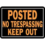 "Hy-Ko 813 Metal Posted No Trespassing Keep Out Sign, 10"" x 14"""