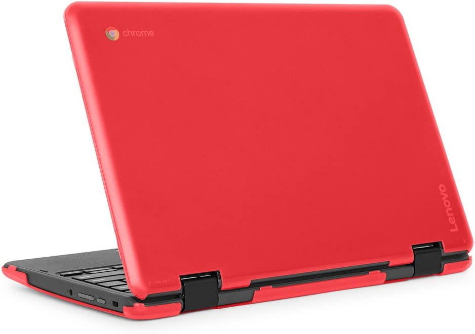 """mCover iPearl Hard Shell Case for 2018 11.6"""" Lenovo 300E / Flex 11 Series 2-in-1 Chromebook Laptop (NOT Fitting Lenovo 300E Windows & N21 / N22 / N23 /100E / 500E Chromebook) (C300E RED)"""