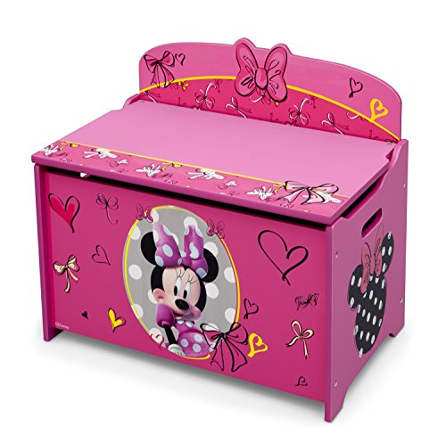 51PzT4TzwPL - Delta Children Deluxe Toy Box, Disney Minnie Mouse