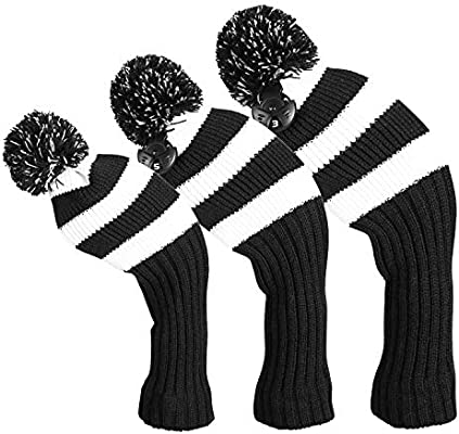 Amazon Com Longchao 3 Pcs Knitted Golf Headcover Driver Cover