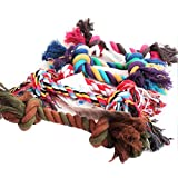 WISTIC Chew Toys, Pet Supplies Puppy Dog Cotton Braided Bone Rope Clean Molar Chew Knot Play Toy