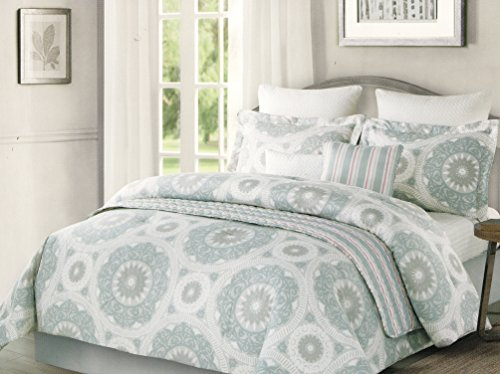 Cynthia Rowley Bedding Light Topaz Blue Grey Spanish Lace Me