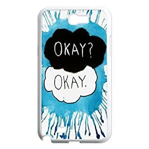 hHXYHTY Diy Phone Case Okay Pattern Hard Case For Samsung Galaxy Note 2 N7100