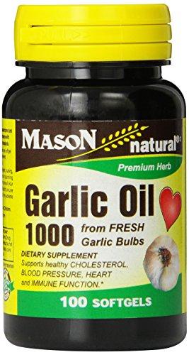 Mason vitamines huile d'ail 1 000 gélules, 100 comte Bouteille (Pack de 3)