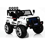 Bebouze Kids Jeep Style Ride On Car (White)