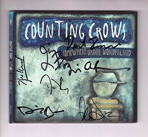 (COUNTING CROWS AUTOGRAPHED SOMEWHERE UNDER WONDERLAND CD SIGNED BY WHOLE BAND)