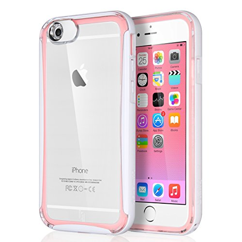 super popular f2d26 1e9ff ULAK [LUMENAIR] Slim Hybrid Clear Back Panel + Luminous Bumper Case for  Apple iPhone 6 4.7 Inch with Incoming Call Flash Message Blink Function  (Pink)