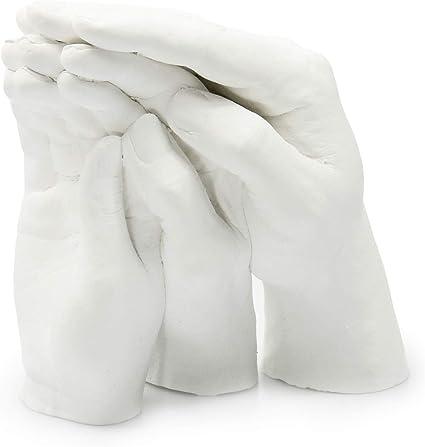 Caja de boda Special Edition Juego completo de accesorios Kit de calco de manos para esculturas 3D de pareja Fabricado en Italia yeso y alginato para moldes y huellas de bricolaje
