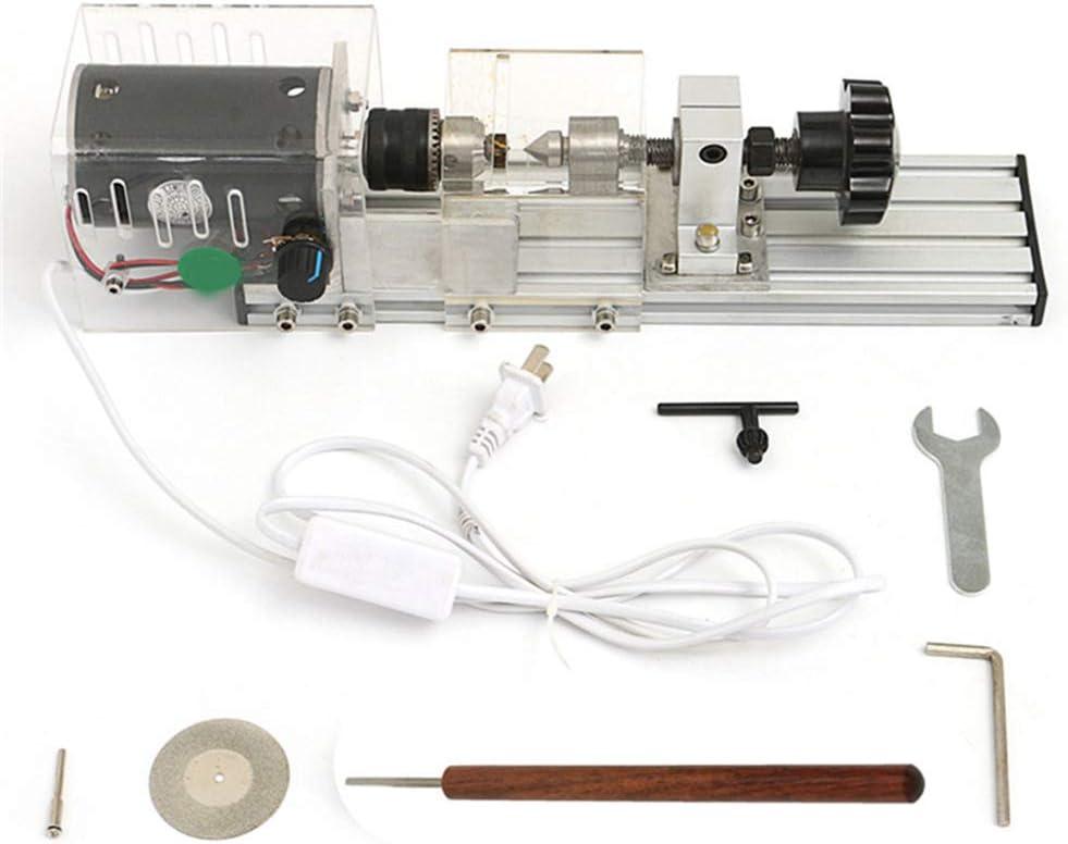 LWQ 350W Precisión Mini Torno de Madera de la máquina, Bricolaje carpintería Torno de Pulido de Corte Rotatoria del Taladro del Sistema de Herramienta estándar Taladro de Banco