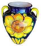 Cactus Canyon Ceramics Wall Flower Pot - Spanish Wall Tinaja - Sunflower