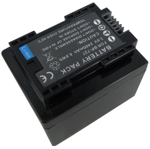 3.6V 2400mAh Replacement for CANON BP-709, BP-718, BP-727,LEGRIA HF R37, LEGRIA HF R38, LEGRIA HF R406, LEGRIA HF R46, LEGRIA HF R48 Camcorder Battery