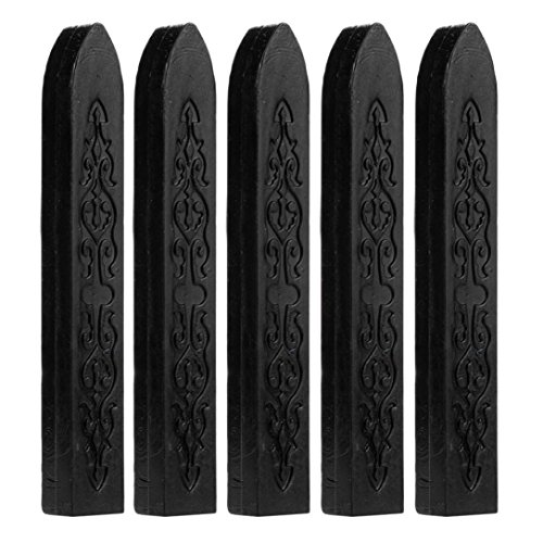 - Gbell 5Pcs Manuscript Sealing Seal Wax Sticks Wicks for Postage Letter,Retro Vintage Wax Seal Stamp (Black)
