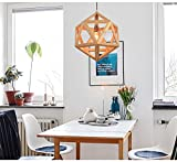 Arturesthome Wood Pedant Lamp, Nordic Style Light