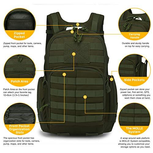 Mardingtop 25/40L Militaire Armée Sac à dos tactique multifonctionnelles rangement Adulte Sacs à Dos Trekking/Randonnée… 4