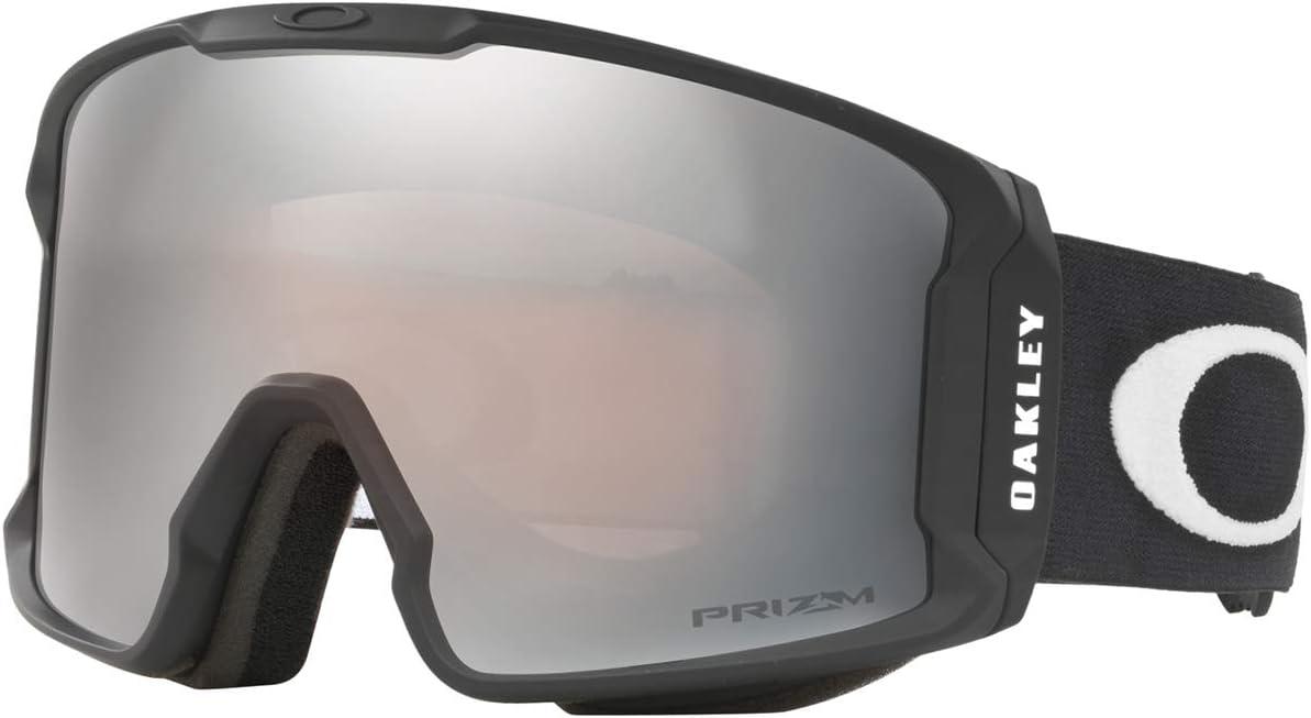 Oakley Line Miner Snow Goggle, Matte Black, Medium, Prizm Black Iridium Lens