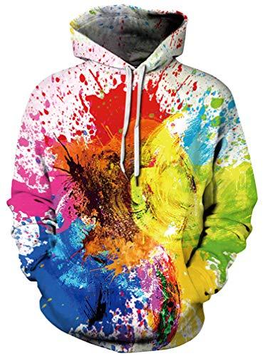 Sweat Multicolore Hoodie Hommes Pull over Ocean Molletonné Fantaisie 3d Plus Encre Impression Lion Pull Loup À Capuche qSnRE