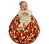 Anti Rip Commando Style Premium Bean Bag Covers Only/Chair for Stuffed Toys Animals Storage Replace Mesh Toy Hammock Storage Bags Perfect Storage Solution for Pillows/Blankets / Strong Zipper