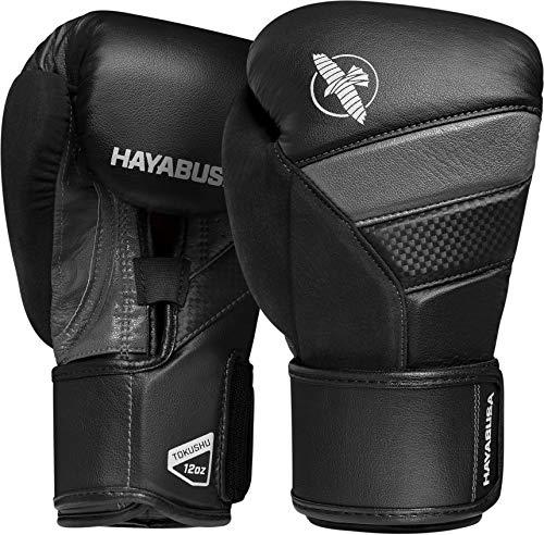 Hayabusa T3 Boxing Gloves Men and Women Black/Grey, 14oz