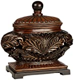 Home Decor Items Weldona Decorative Brown Bowl with Lid
