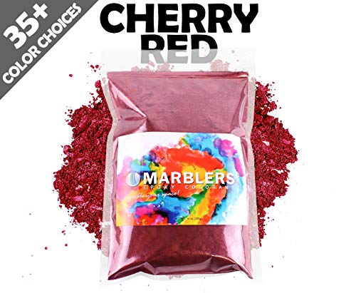 Marblers Powder Colorant 10oz (283g) [Cherry Red] | Pearlescent Pigment | Tint | Pure Mica Powder for Resin | Dye | Non-Toxic | Great for Paint, Concrete, Epoxy, Soap, Nail Polish, Cosmetics by Marblers (Image #7)