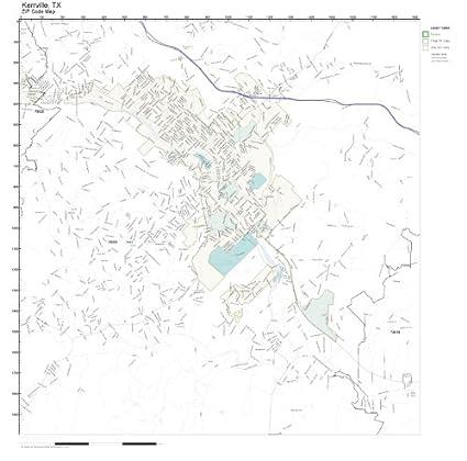 Amazon.com: ZIP Code Wall Map of Kerrville, TX ZIP Code Map ...