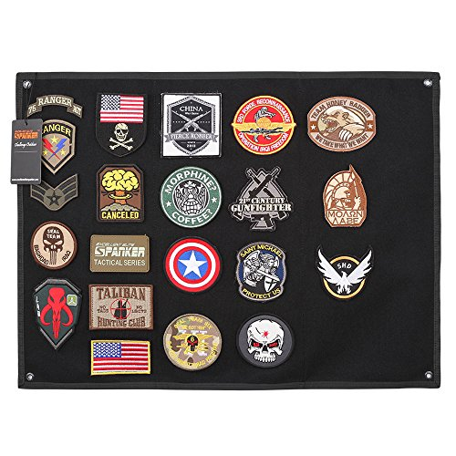 Excellent Elite Spanker Tactical Patchs Display Board Foldable Military Patch Holder Panel(Black-L)