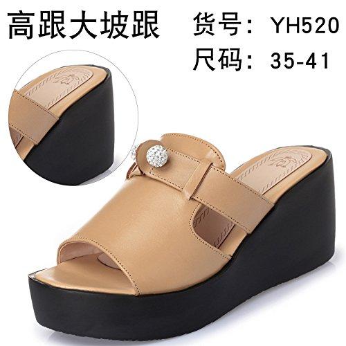 ZYUSHIZ Sandalen Hausschuhe Sommer Frau Outdoor minimalistischen Ding ziehen, und die Farbe, 35EU