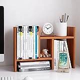 Jerry & Maggie - Desktop Organizer Office Storage Rack Adjustable Wood Display Shelf - free style double H display - True Natural Stand Shelf - Natural Wood Tone