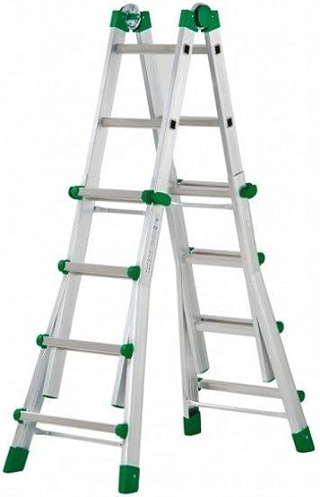 Codiven. S.L. - Escalera Multiuso Aluminio 8+8 Peldaños Al-020 Codiven: Amazon.es: Bricolaje y herramientas