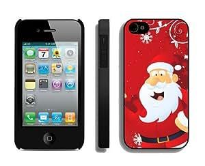 Popular Design Santa Claus iPhone 4 4S Case 13 Black
