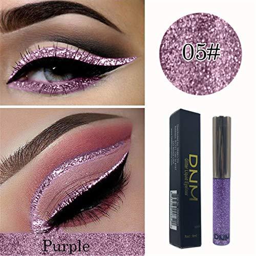 GoodLock Hot!! Fashion Glitter Shiny Liquid Eyeshadow Ladies Waterproof Long Lasting Shimmer Eyeliner Colorful Cosmetic (E)