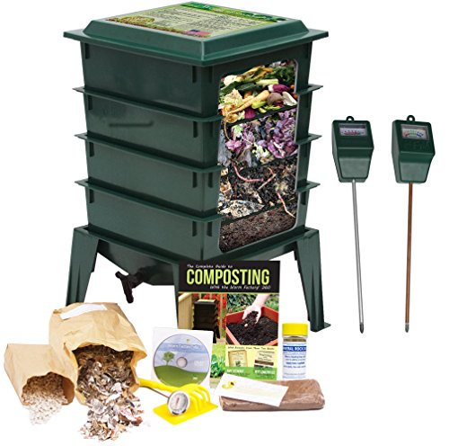 worm-factory-360-composting-bin-moisture-and-ph-testing-meter-worm-farm-kit-green
