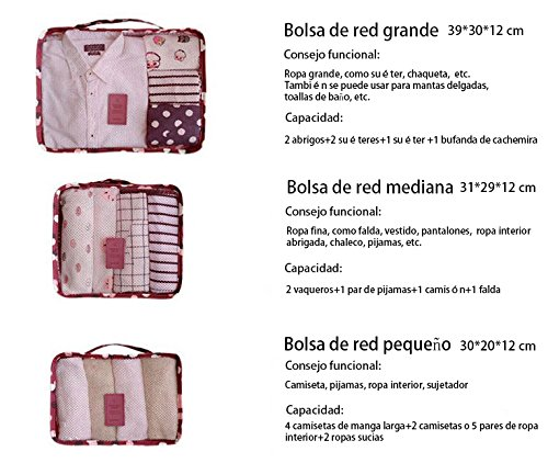 Amazon.com: URIJK Clothing Sorting Packages Travel Mesh Pouch Laundry Bag Storage 6 Packing Cubes: Home & Kitchen