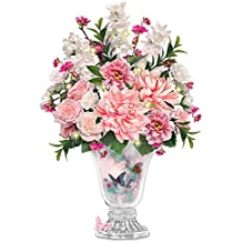 Lena Liu Always In Bloom Floral And Crystal Vase Centerpiece: Lights Up by The Bradford Exchange