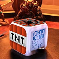 ZXLIADLY Children's Alarm Clock Home Home Indoor Alarm Clock Minecraft Children Cute Alarm Clock Bring You Everything is…