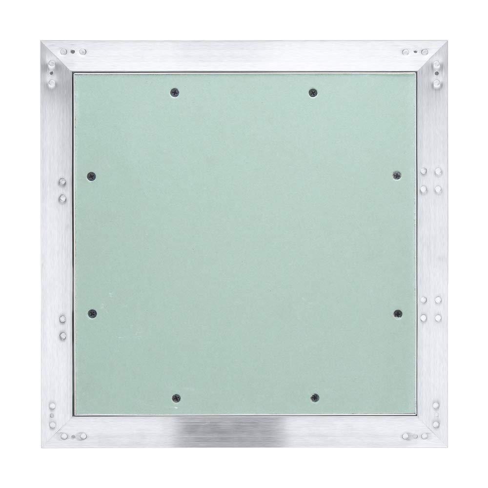 Hengda Revisionsklappe Aluminium-Rahmen 150 200mm mit 12.5 mm Gipskarton GK-Einlage ABS-Kunststoff mit Gr/ün impr/ägniert f/ür Feuchtr/äume geeignet