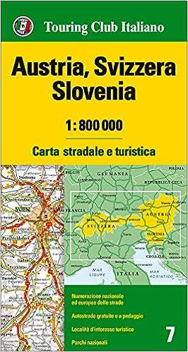 Austria Cartina Turistica.Austria Svizzera Slovenia 1 800 000 Carta Stradale E