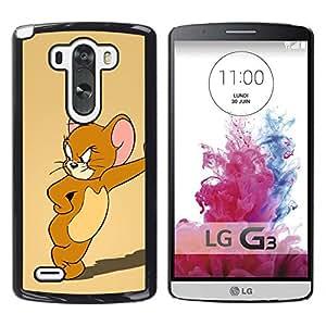 A-type Arte & diseño plástico duro Fundas Cover Cubre Hard Case Cover para LG G3 (Jerry ratón de dibujos animados)